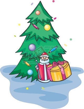 크리스마스트리,크리스마스장식,산타,산타할아버지