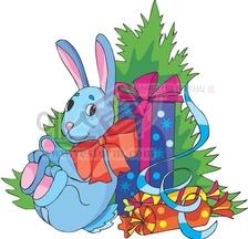 크리스마스트리,크리스마스장식,산타,산타할아버지,토끼인형,인형