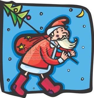 크리스마스,산타,산타할아버지,선물보따리,달,장화,수염,눈,성탄절,기독교