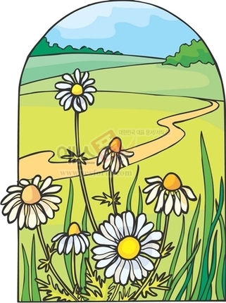 꽃밭,오솔길,전원,자연