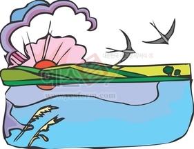 산,구름,강,냇물,다리,강물,새