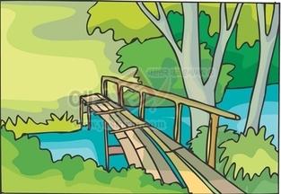 강,냇물,다리,강물,나무