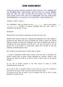 (영문) OEM계약서(OEM Agreement) 샘플양식