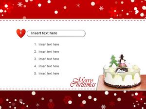 메리 크리스마스 케이크(이벤트) 파워포인트 테마