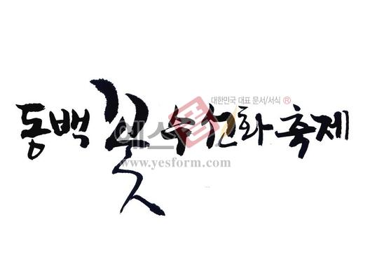 미리보기: 동백꽃 수선화축제 - 손글씨 > 캘리그라피 > 행사/축제