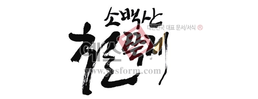 미리보기: 소백산철쭉제1 - 손글씨 > 캘리그라피 > 행사/축제