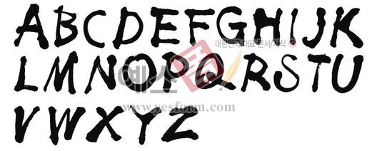 미리보기: 알파벳(대문자)2 - 손글씨 > 캘리그라피 > 기타