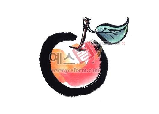 미리보기: 사과2 - 손글씨 > 캘리그라피 > 동/식물