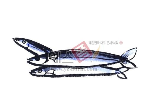 미리보기: 생선 - 손글씨 > 캘리그라피 > 동/식물