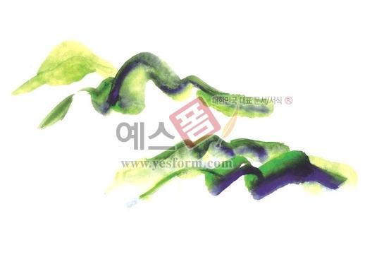미리보기: 칼라번짐41 - 손글씨 > 캘리그라피 > 붓터치