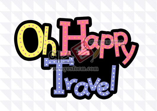 미리보기: Oh Happy Travel - 손글씨 > POP > 기타