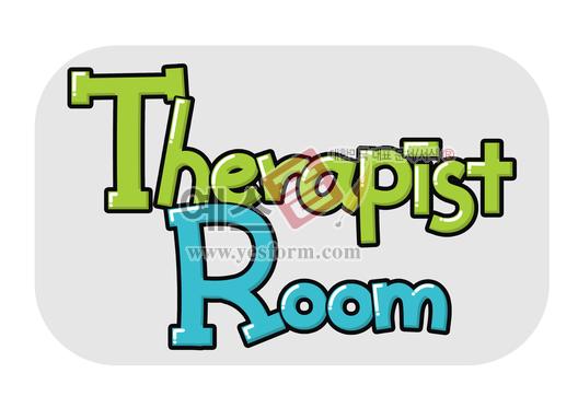 미리보기: Therapist Room(치료사,문패) - 손글씨 > POP > 문패/도어사인