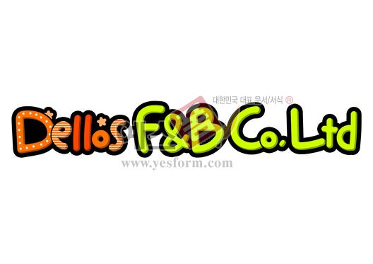 미리보기: Dellos F&B Co.Ltd (로고, 기업) - 손글씨 > POP > 문패/도어사인
