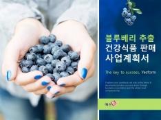 블루베리 추출 건강식품 판매 사업계획서