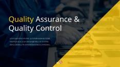 품질보증 및 품질관리 Theme PPT template