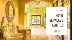 호텔 서비스와 시설 Powerpoint template