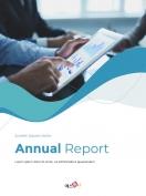 웨이브 디자인 비즈니스 연간 보고서 PPT template