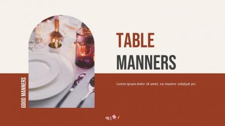 테이블 매너 (Table Manners) 파워포인트